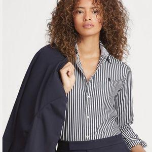 RALPH LAUREN Slim Stretch Fit Striped Shirt
